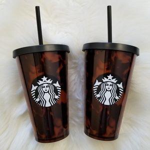 Bundle of 2 Starbucks Tortoise Tumbler 16 oz each